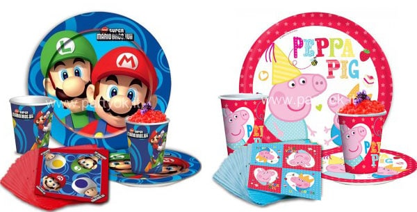 Una festa inimitabile con i prodotti party di Peppa Pig e Super Mario